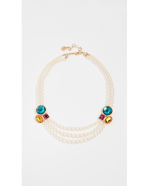 Ben-Amun - Multicolor Imitation Pearl & Stone Necklace - Lyst
