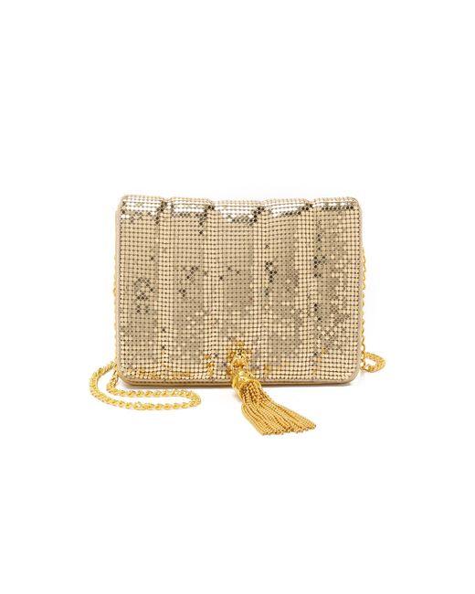 Whiting & Davis | Metallic Quilted Tassel Bag - Gold | Lyst