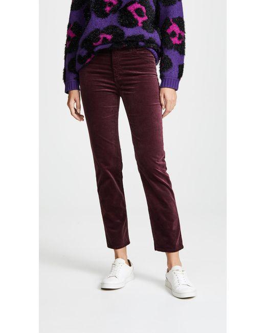 AG Jeans - Red The Velvet Isabelle Jeans - Lyst