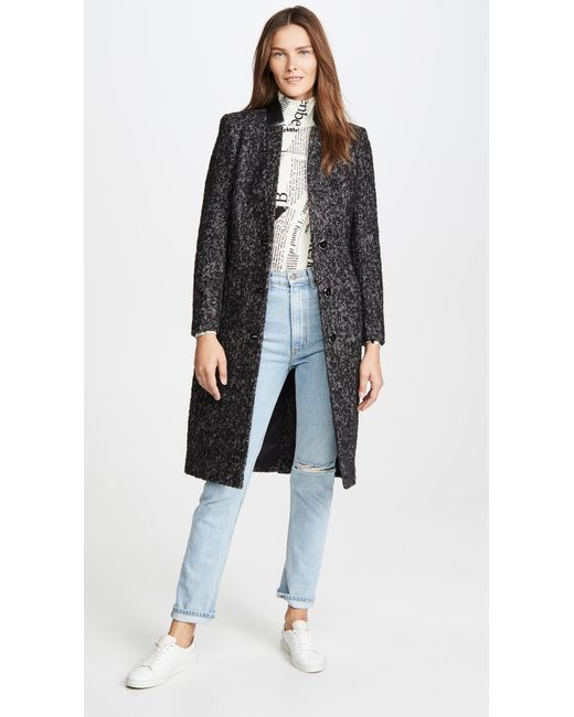 Mackage Black Bianca Mohair Coat