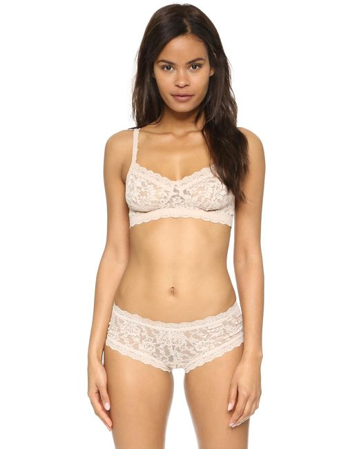 Hanky Panky | Natural Signature Lace Retro Bralette | Lyst