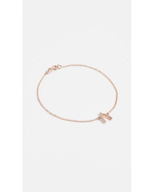 Jennifer Meyer Pink Diamond Wishbone Bracelet