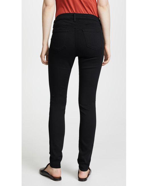 579ae3d49244a ... J Brand - Black Mama J Super Skinny Maternity Jeans - Lyst ...