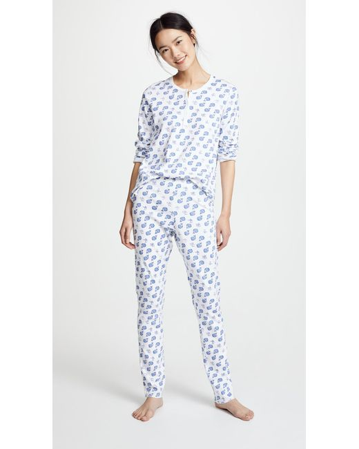 Roberta Roller Rabbit - Blue Moby Pj Set - Lyst