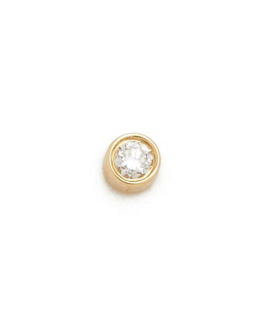EF Collection - Metallic Diamond Bezel Single Stud Earring - Lyst
