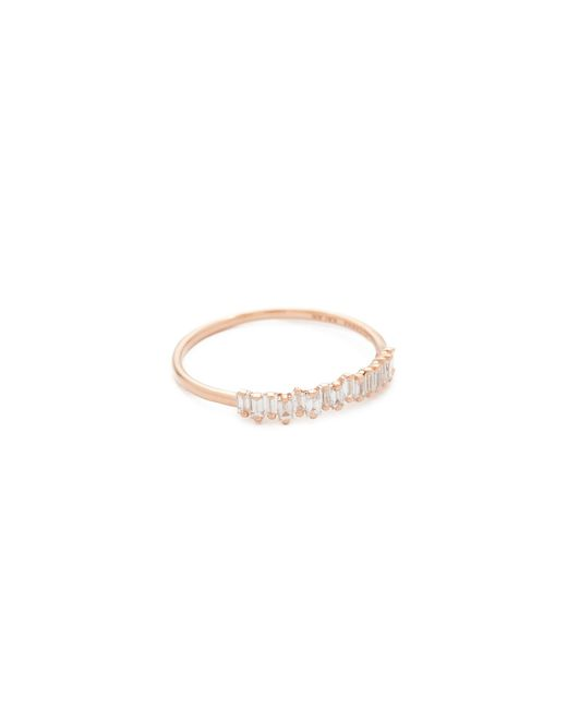 Suzanne Kalan | Metallic Fireworks 18k Gold Diamond Half Band Ring | Lyst