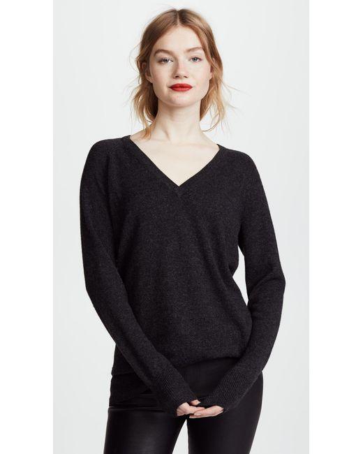 Equipment - Gray Asher V-neck Sweater - Lyst