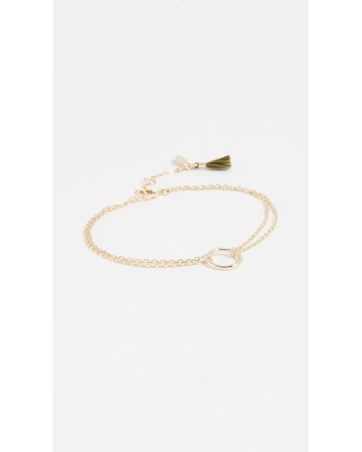 Shashi - Metallic Circle Bracelet - Lyst