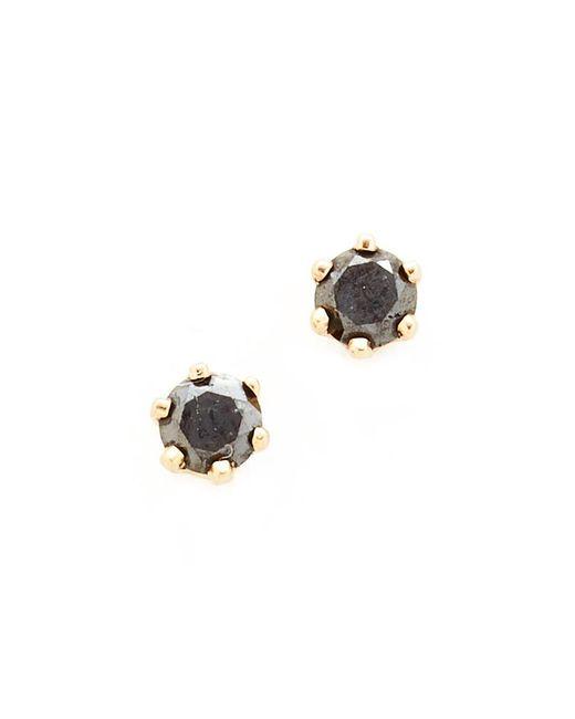 Blanca Monros Gomez - Little Black Diamond Stud Earrings - Lyst