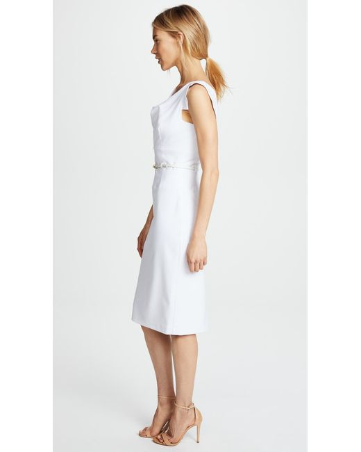 Lyst Black Halo Jackie O Belted Dress In White Save 8 0