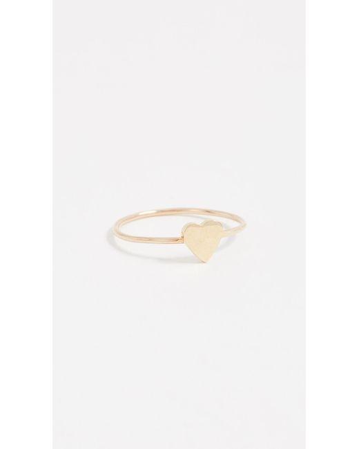Jennifer Meyer Metallic Mini Heart Ring