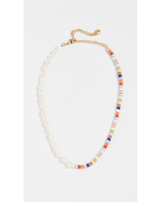BaubleBar Multicolor Pearl And Multi Beads Necklace