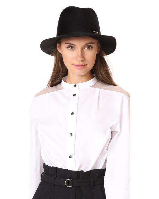 Janessa Leone | Black Lane Fedora Hat | Lyst