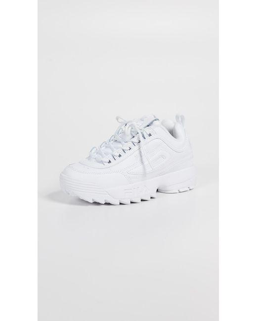 Fila White Disruptor Ii Premium Sneakers