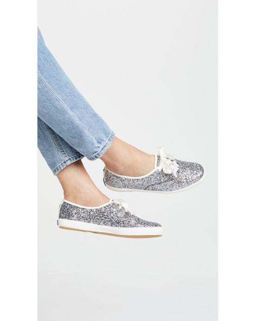 c8623b9aeeed ... Keds - Metallic X Kate Spade New York Glitter Sneakers - Lyst ...