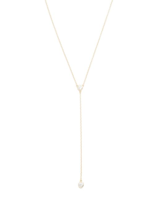 Shashi | Metallic Solitaire Lariat Necklace | Lyst
