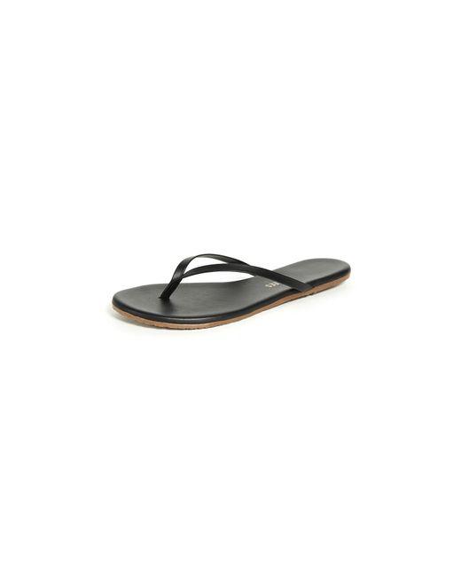 Tkees Leather Liners Flip Flops In Black - Lyst-9709