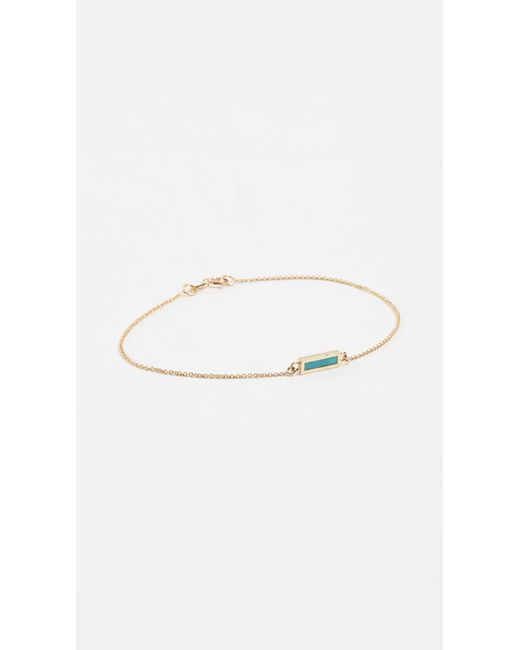 Jennifer Meyer - Metallic Inlay Short Bar Bracelet - Lyst