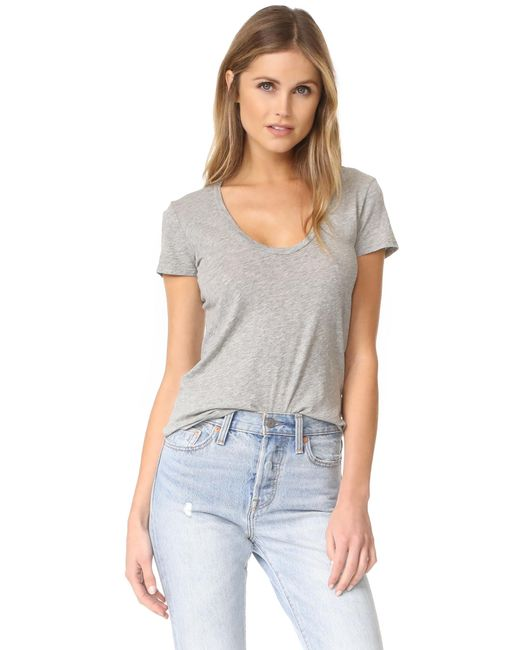 James Perse | Gray Casual Tee | Lyst