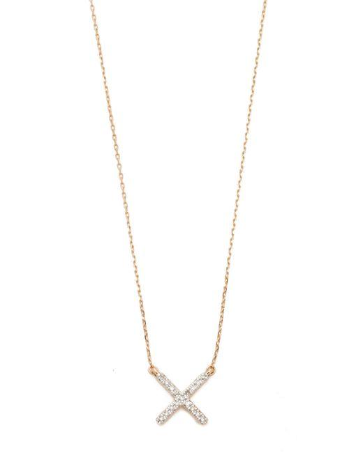 Adina Reyter - Metallic Pave X Necklace - Lyst
