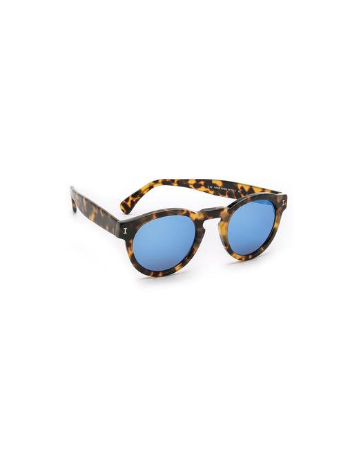 Illesteva - Brown Leonard Mirrored Sunglasses - Lyst