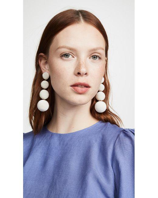 Rebecca de Ravenel White Classic 4 Drop Earrings