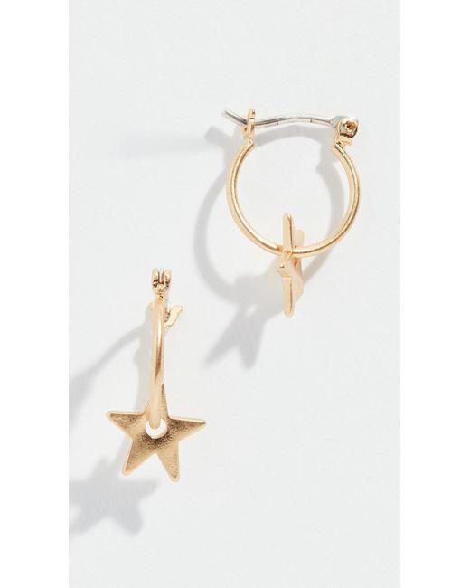 Madewell - Metallic Mini Charm Star Hoop Earrings - Lyst