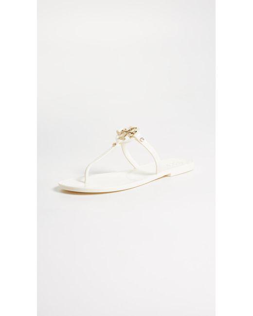 Tory Burch White Mini Miller Jelly Thong Sandal