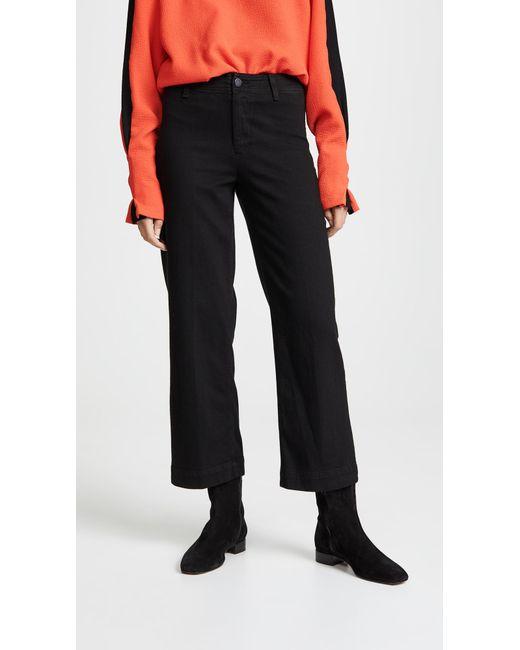 PAIGE - Black Nellie Clean Culotte Jeans - Lyst