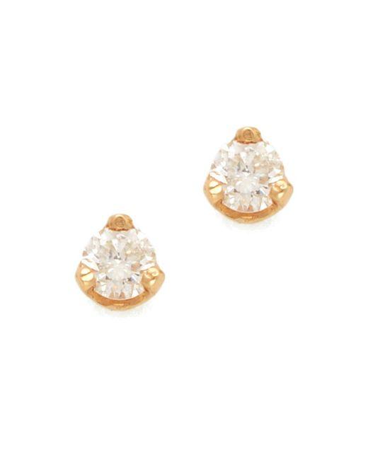 Zoe Chicco - Metallic Diamond Prong Stud Earrings - Lyst