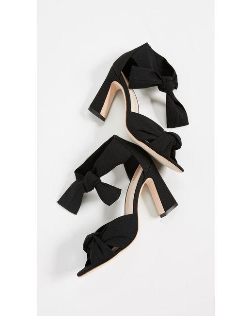5b9067888b270 Women's Black Nan Ankle Tie Sandals