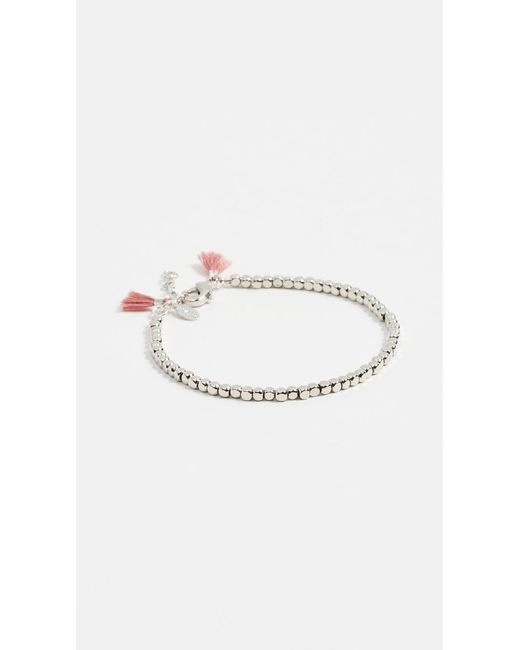 Shashi White Nugget Clasp Bracelet