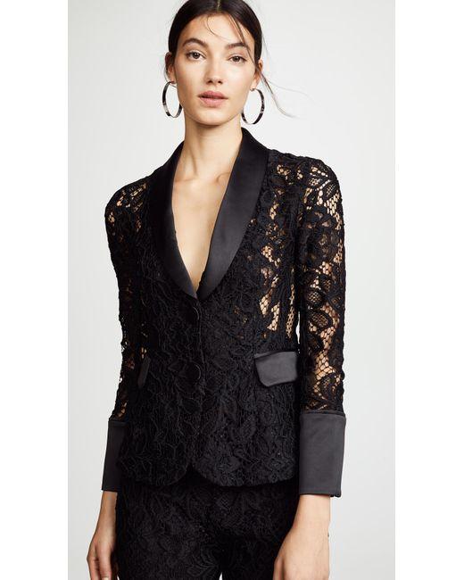 Alexis - Black Bonis Floral Lace Jacket - Lyst