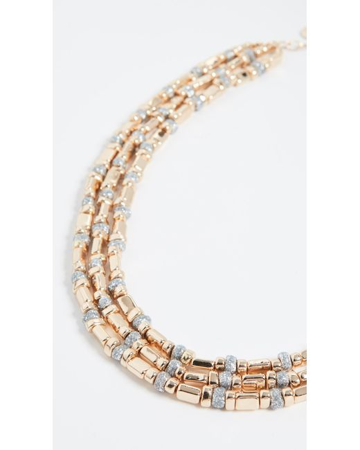 BaubleBar Metallic Cailyn Layered Necklace