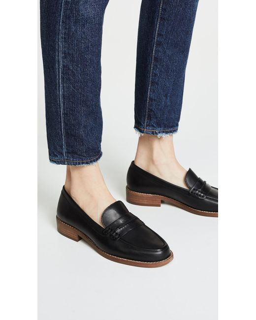 25cdbfbc6bd14f ... Madewell - Black The Elinor Loafers - Lyst ...