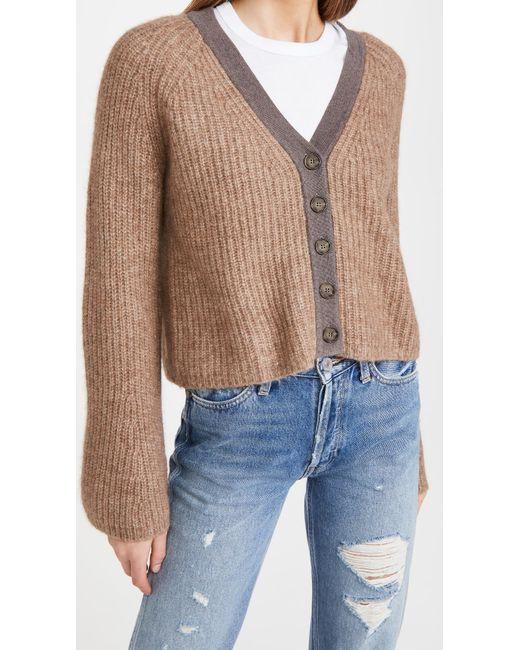 NAADAM Brown Wide Sleeve Cashmere Cardigan