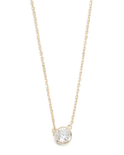 Shashi Metallic Solitaire Necklace
