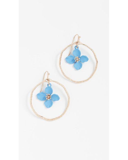 Shashi - Blue Irene Hoop Earrings - Lyst