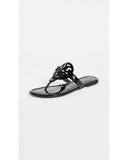 d74f0cf2a42ed6 Tory Burch - Gray Miller Thong Sandals - Lyst ...