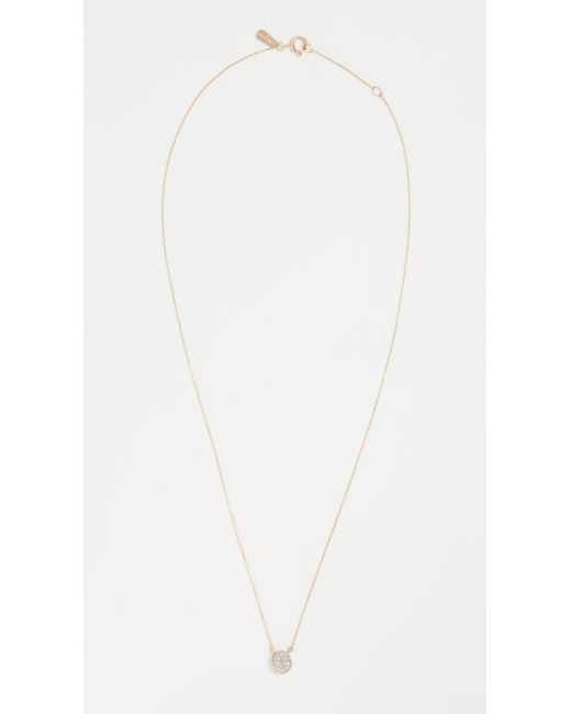 Adina Reyter Metallic Solid Pave Disc Necklace