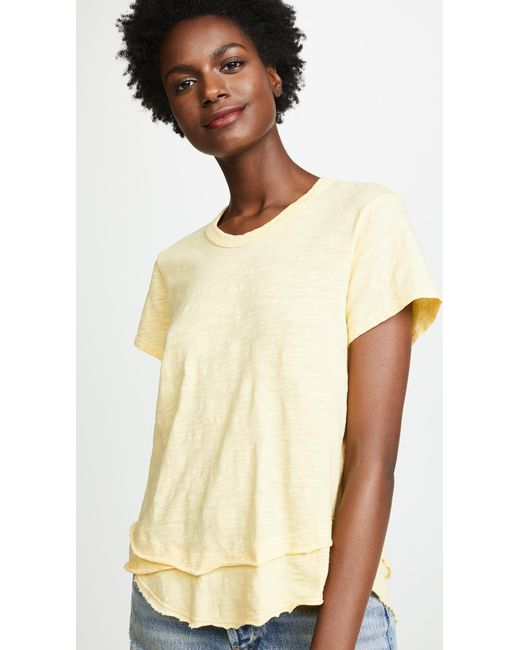 Wilt - Multicolor Short Sleeve Mock Layer Tee - Lyst