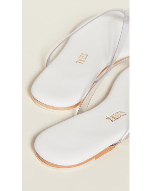 Tkees Lily Clear Flip Flops In White - Lyst-5004