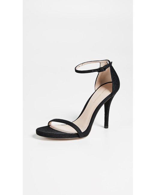 05f600ed7d0 Stuart Weitzman - Black Nudist Curved Heel Sandals - Lyst ...