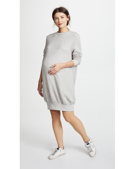 HATCH - Gray The Sweatshirt Dress - Charcoal Heather - Lyst