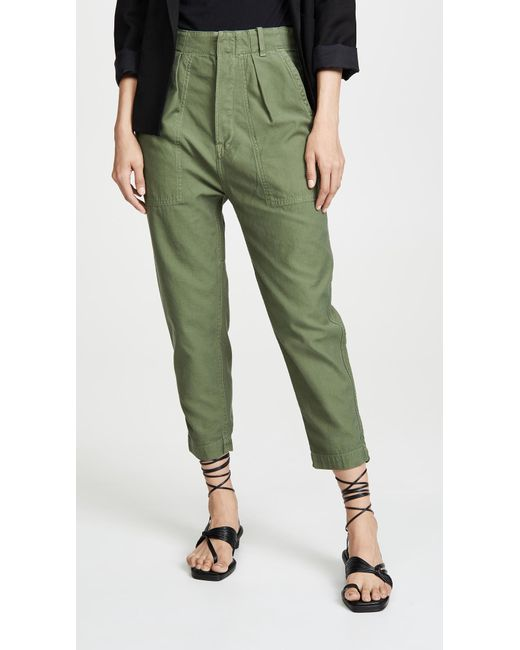 Citizens of Humanity Green Harrison Tapered Pants