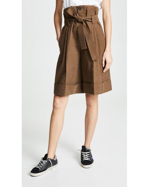 Golden Goose Deluxe Brand Brown Short Naomi Shorts