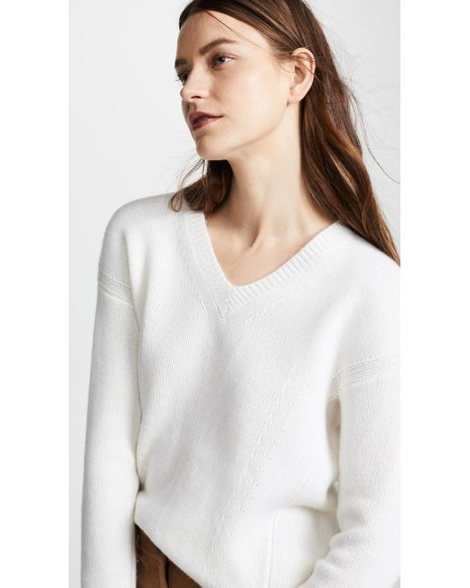 5030fa842a ... TSE - White Cocoon Back Cashmere Sweater - Lyst ...