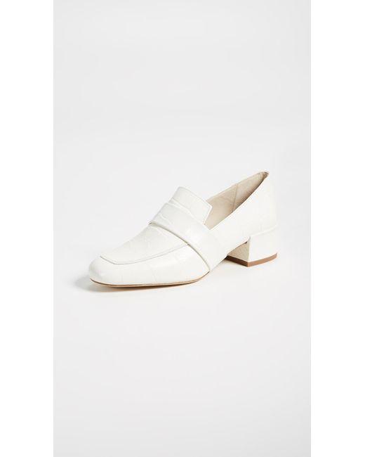 Frēda Salvador - White The Rock Block Heel Loafers - Lyst