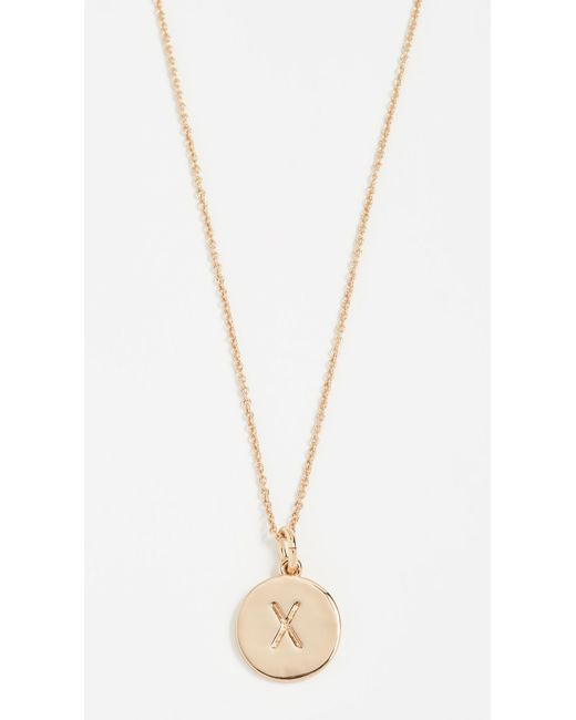 Kate Spade - Metallic Letter Pendant Necklace - R - Lyst