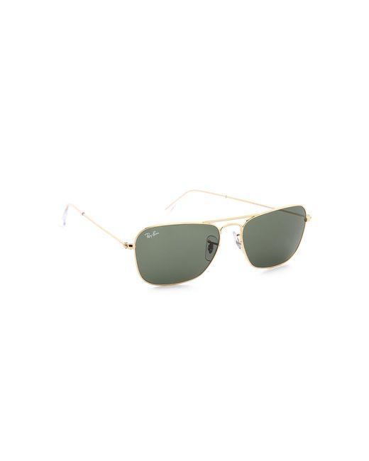 Ray-Ban - Green Caravan Sunglasses - Lyst
